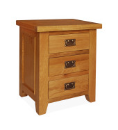 SHER-10 3 DRAWER BEDSIDE CABINET CLOSED-M1