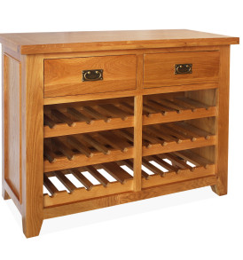 SHER-30 DOUBLE WINE RACK 2 DRAWER CLOSED -M1
