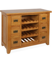 SHER-31 SINGLE WINE RACK 6 DRAWERS CLOSED-M1