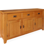 SHER-35 3 DOOR 3 DRAWER SIDEBOARD CLOSED-M1