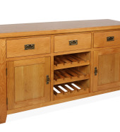 SHER-36 SINGLE WINE RACK 3 DRAWER 2 CUBBOARDS CLOSED-M1