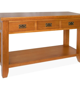 SHER-41 CONSOLE TABLE WITH 3 DRAWER CLOSED -M1