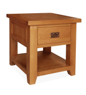 SHER-42 LAMP TABLE 1 DRAWER CLOSED-M1