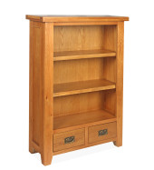 SHER-74 BOOKCASE 1,2M WITH 2 DRAWERS CLOSED-M1