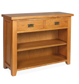 SHER-75 BOOKCASE 0.91M WITH 2 DRAWERS CLOSED-M1