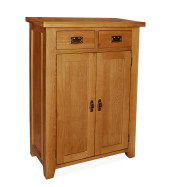 SHER-83 SHOE CABINET WITH 2 DRAWERS CLOSED -M1